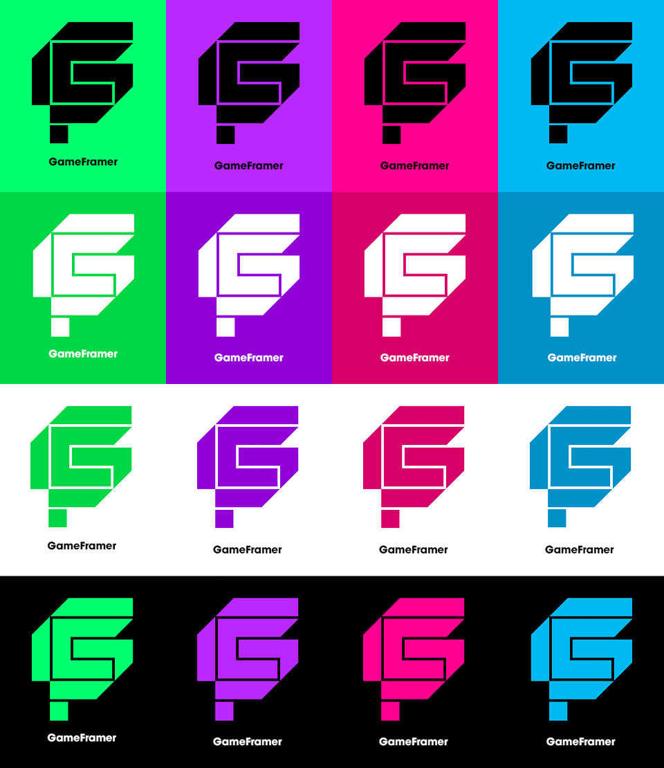 Type, Iconography and Design Language - gmfrmr-03-my_favorite_logo_version_in_color_palette