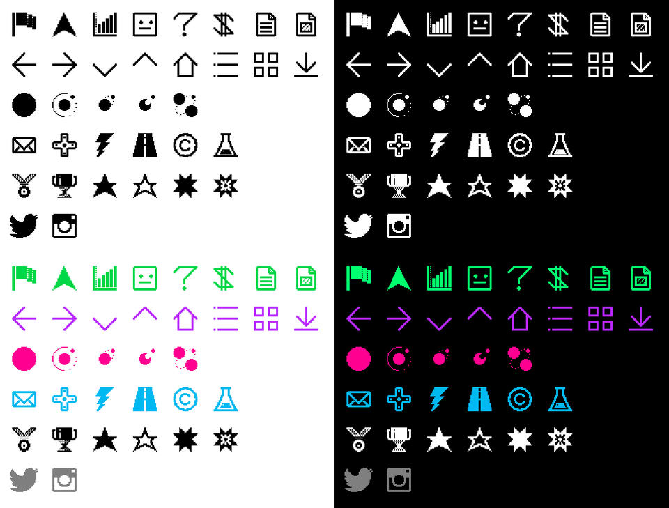 Type, Iconography and Design Language - gmfrmr-icons