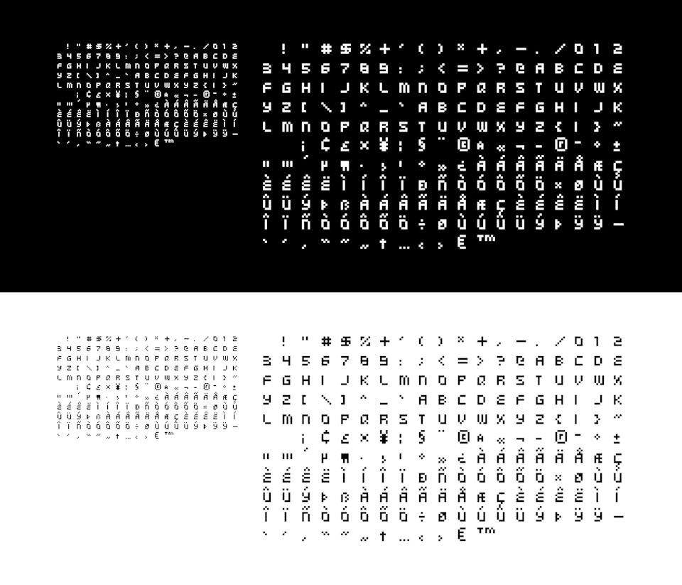 Type, Iconography and Design Language - blip_festival_2008_typeface