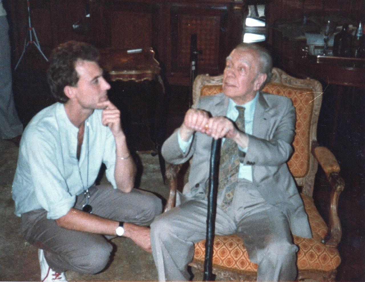 BORGES & I MIKE SOUTHON:JORGE LUIS BORGES: BBC FEB 1983 URUGUAY 1