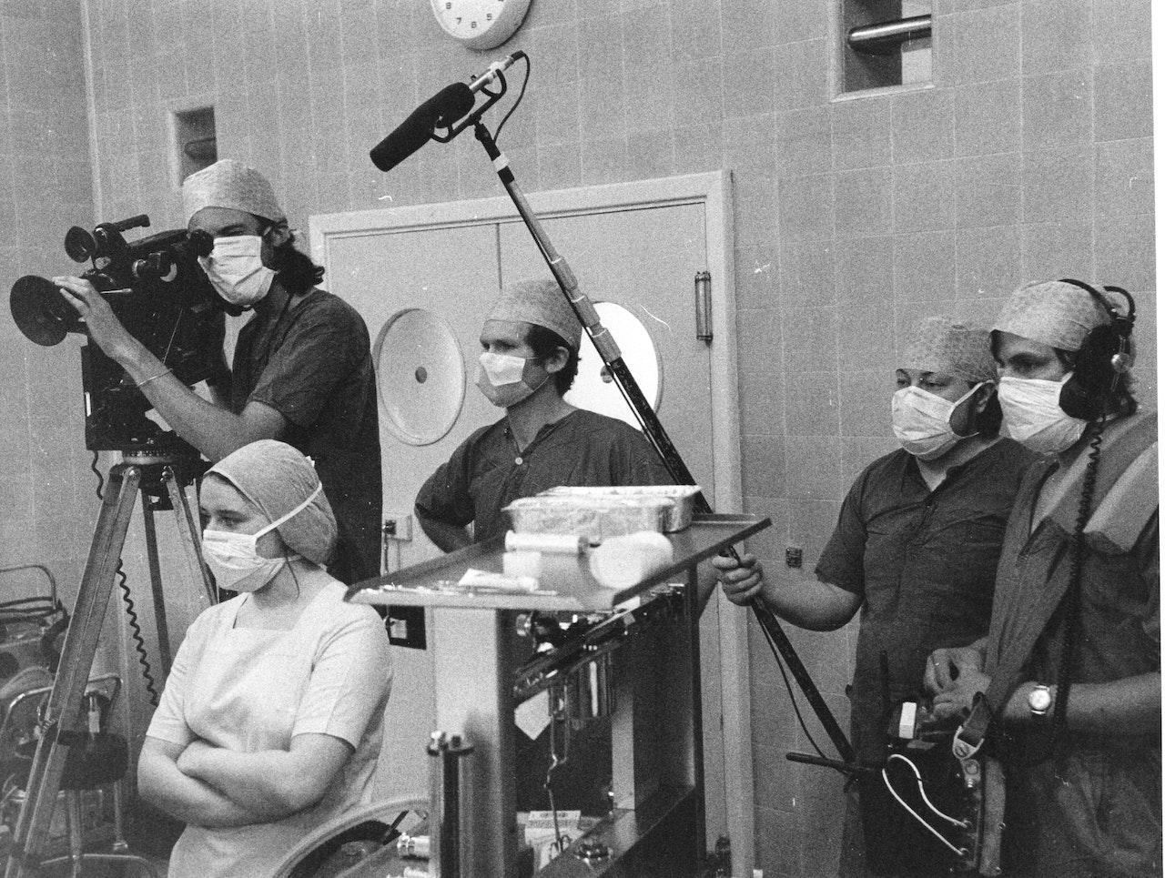 "MIKE SOUTHON  SHOOTING ""HOSPITAL"" BBC 1976"