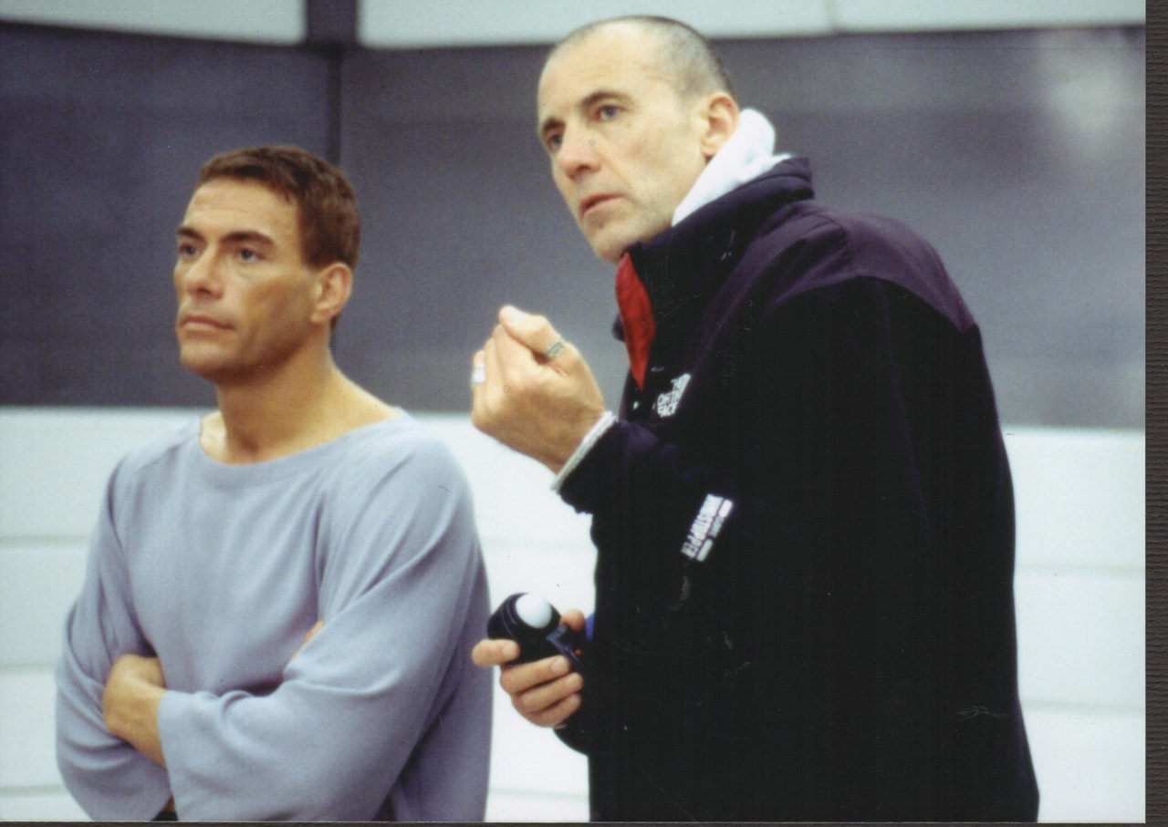 MIKE SOUTHON:JCVD  ON SET OF REPLICANT