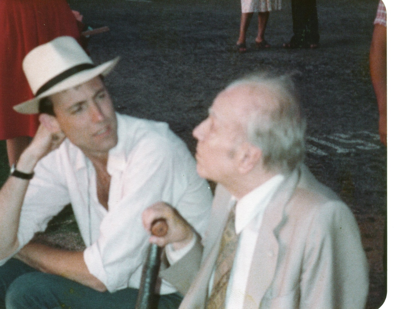 BORGES & I MIKE SOUTHON:JORGE LUIS BORGES: BBC FEB 1983 URUGUAY