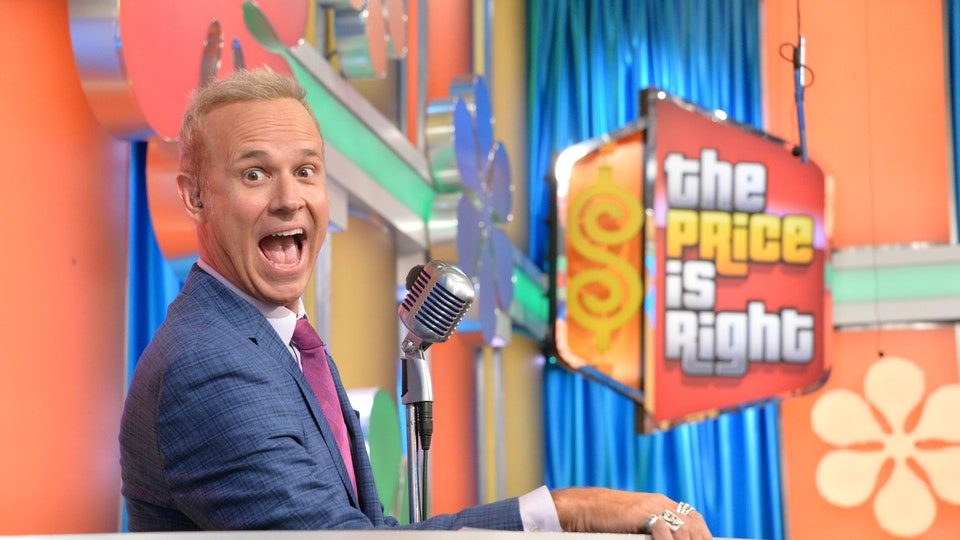 The Price Is Right - I designed, drew, and art directed the build on these signs, which hang over the audience and feature mechanically spinning dollars.