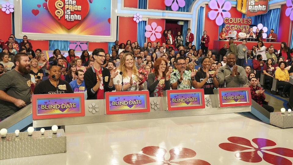 The Price Is Right - A special look for our Valentine's Day episode, featuring graphics in Bidders' Row screens, custom light cues throughout, theme GFX in the video wall, and the 'Couples Corner.'