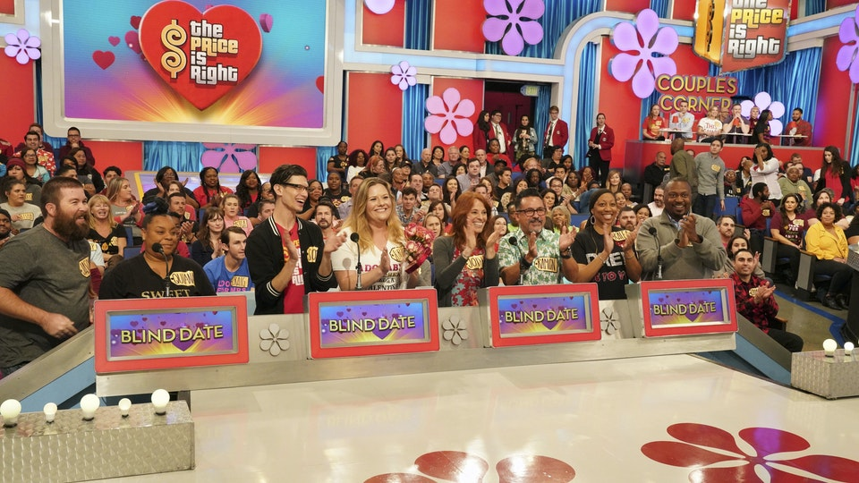 The Price Is Right - A special look for our Valentine's Day episode, featuring graphics in Bidders' Row screens, custom light cues throughout, theme GFX in the video wall, and the 'Couples Corner' special scenic treatment.
