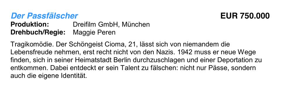 FFF Bayern fördert Der Passfälscher