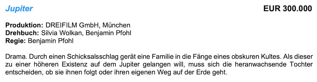 FFF Bayern fördert JUPITER
