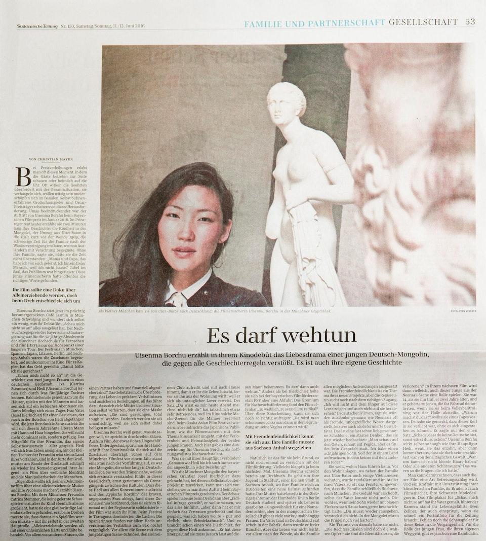 SCHAU MICH NICHT SO AN in der Süddeutschen Zeitung