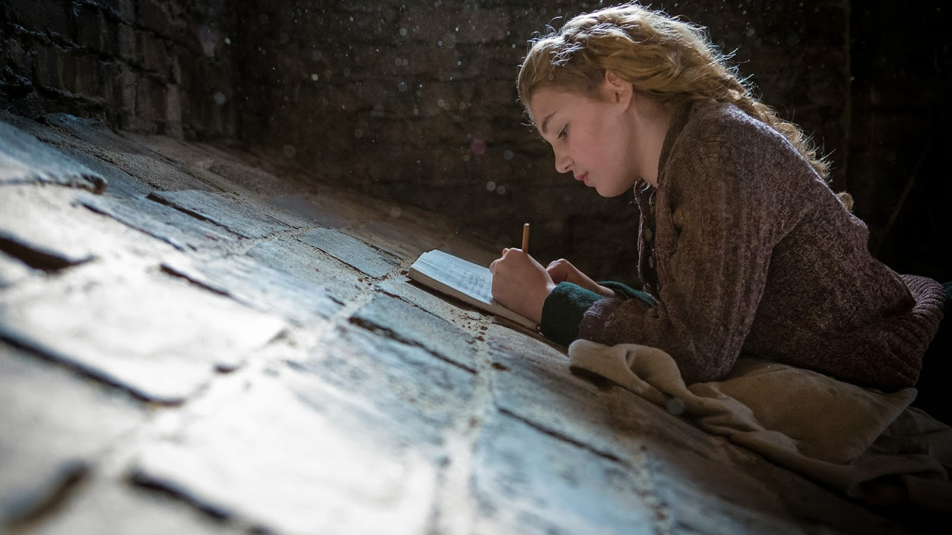 sophie nelisse as THE BOOK THIEF