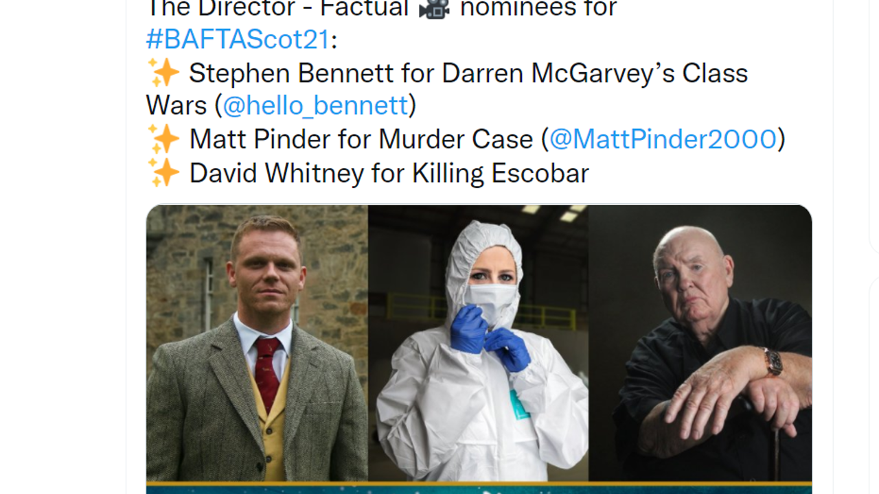 BAFTA SCOTLAND NOMINATIONS 2021