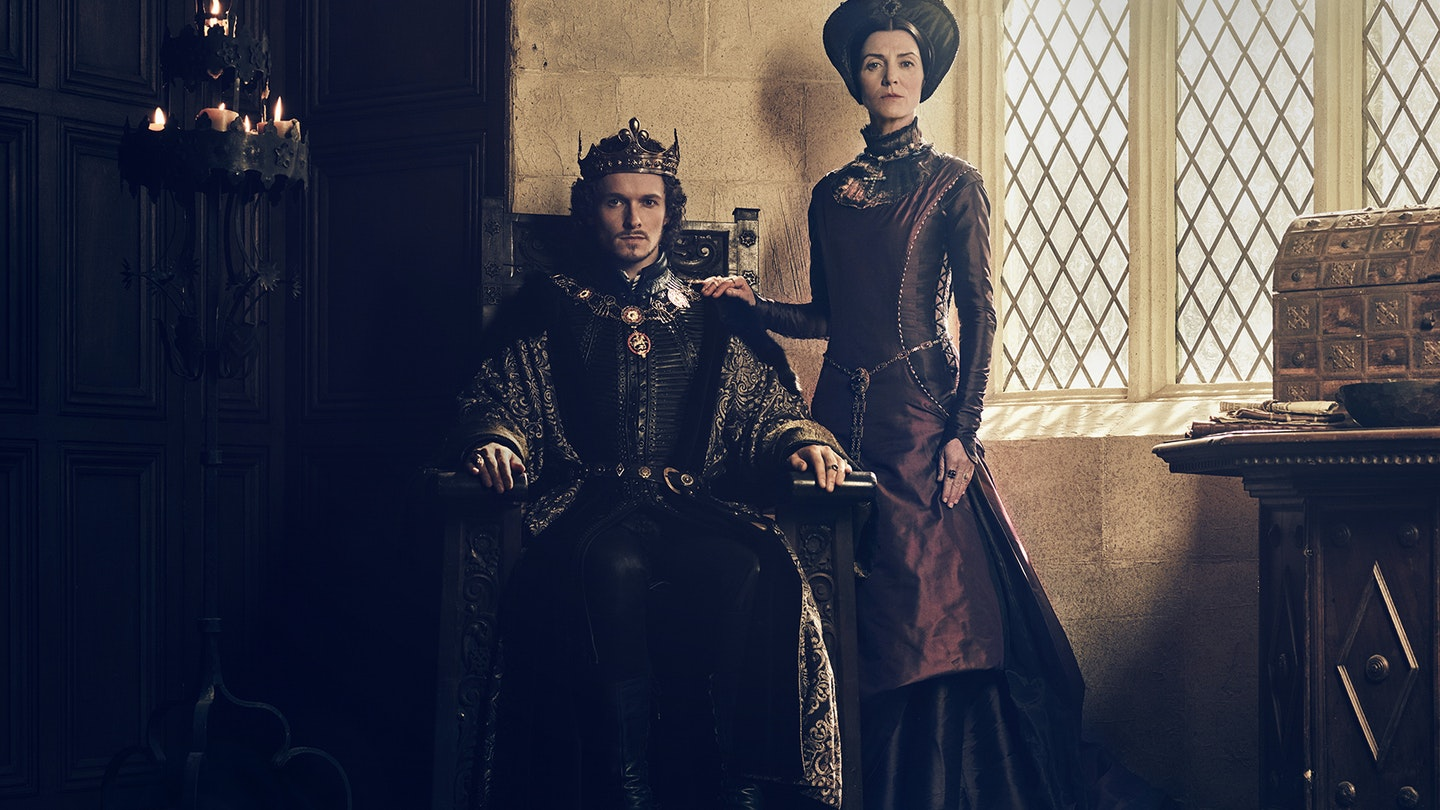 4 _ Jacob Collins-Levy (King Henry VII), Michelle Fairley (Lady Margaret Beaufort) copy
