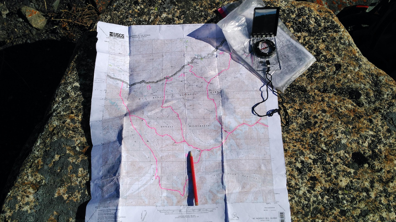 Map & Compass - Denali National Park