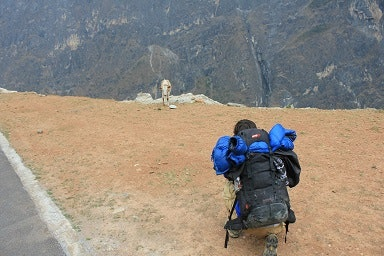Backpack Tiger Leaping Gorge China