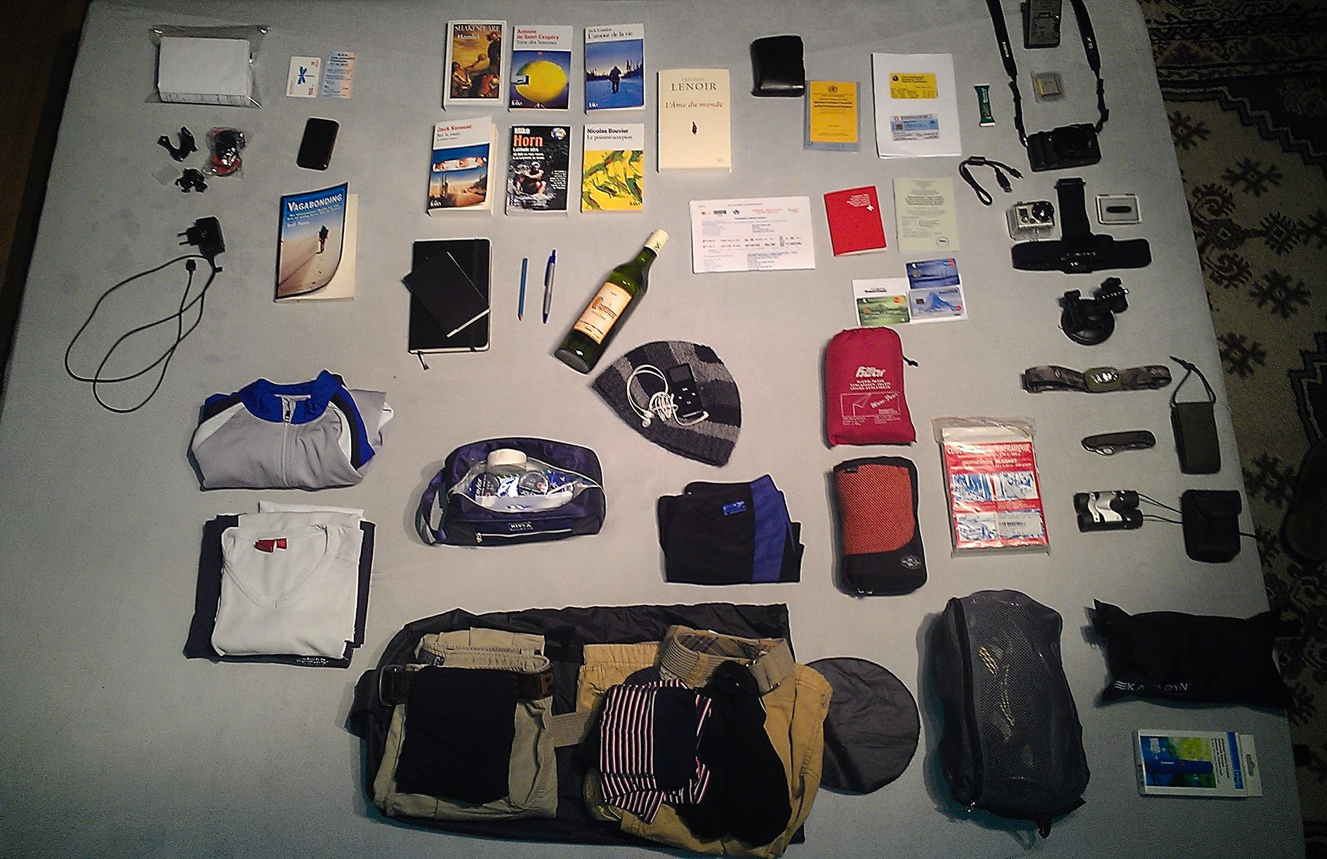 Asia overland packing