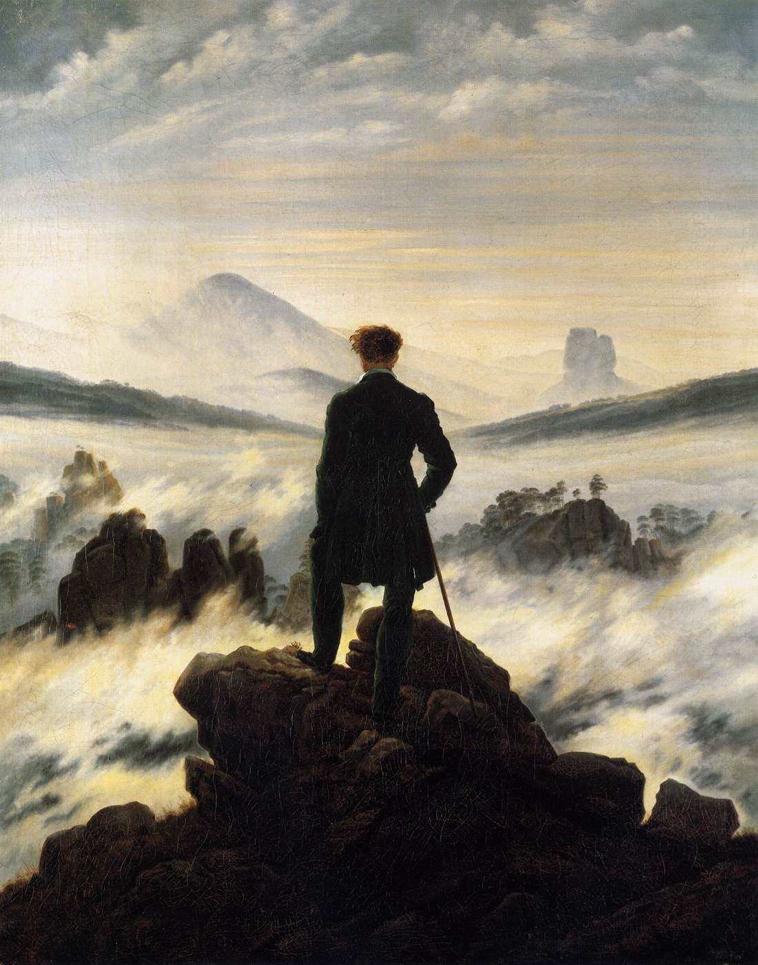 Wanderer above the Sea of Fog, C. D. Friedrich