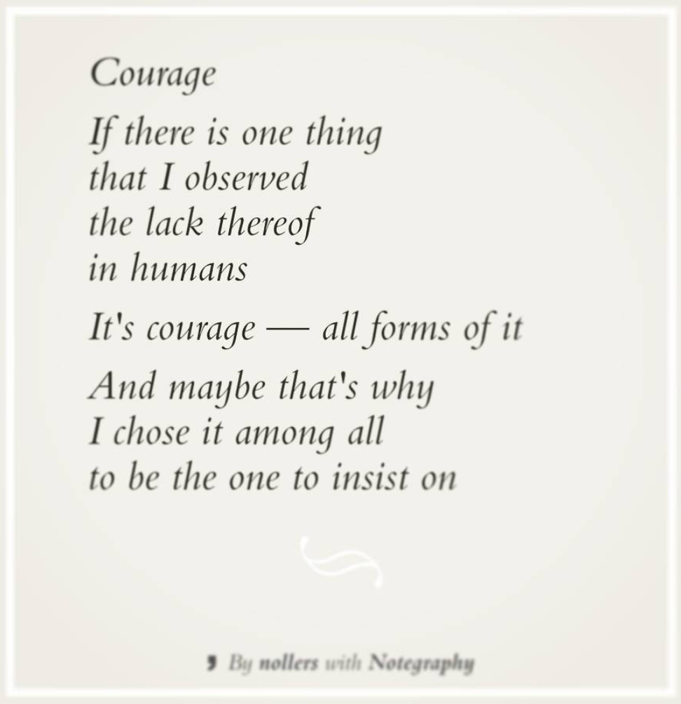 Poem Courage by Marc Surchat