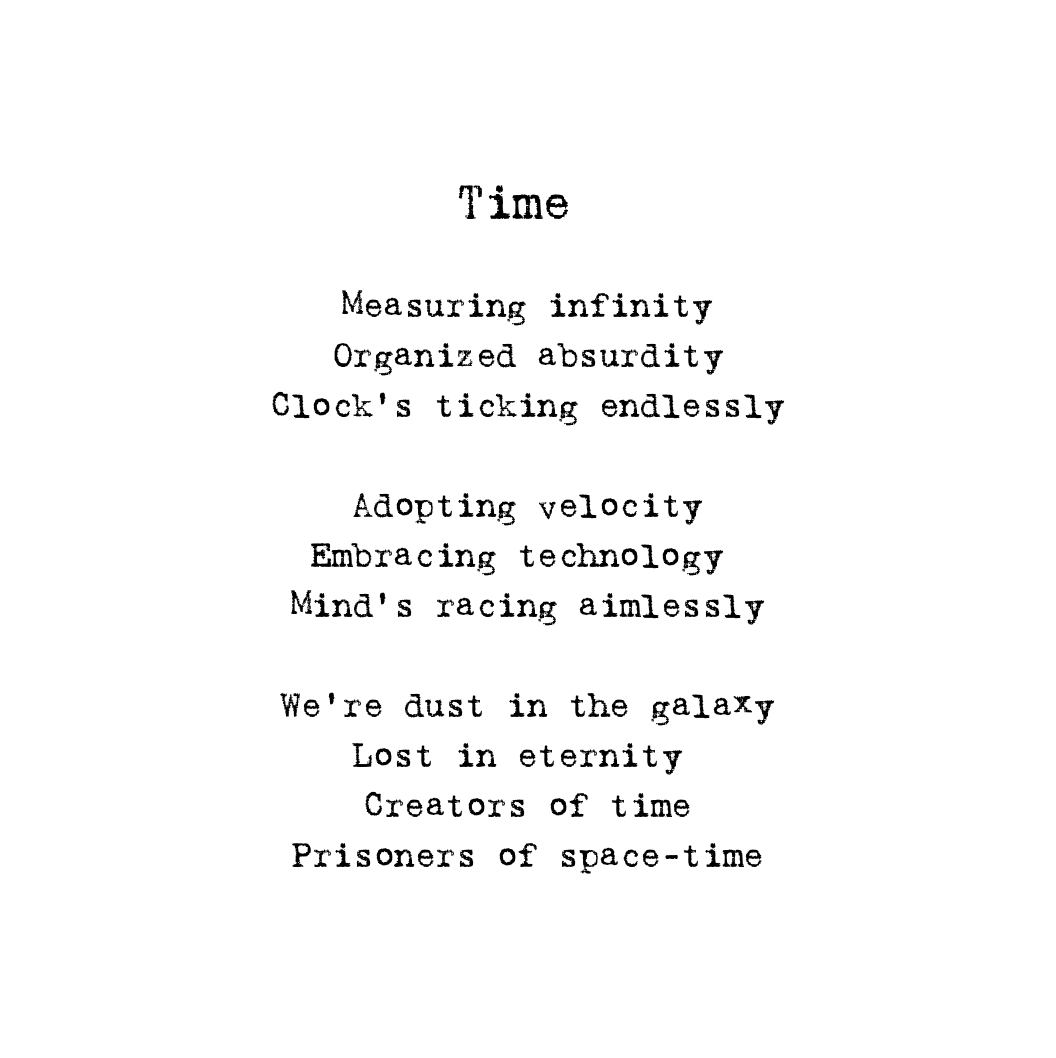 Poem Time by Marc Surchat