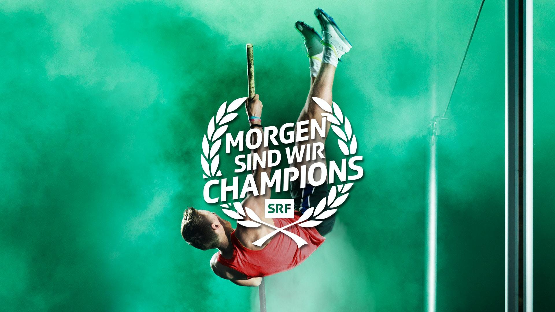 Morgen sind wir Champions Leichtathletik Mann Keyvisual MASTER