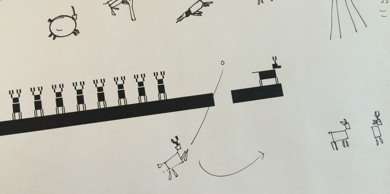 Sketching a x-mas animation