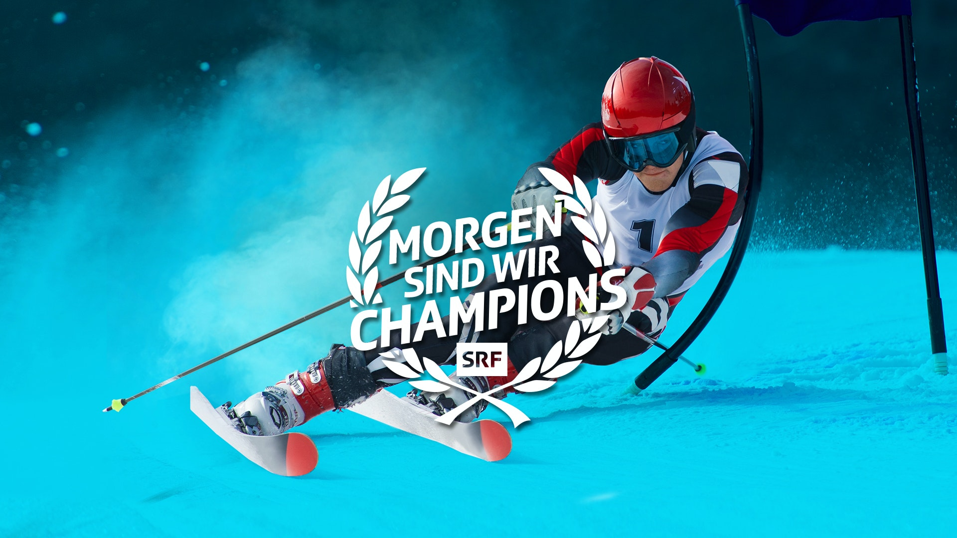 Morgen sind wir Champions Ski Keyvisual MASTER