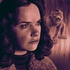 Podcasts - Portrait of Ruth Wilson as Mrs Coulter (with her accompanying Daemon) from the HBO/BBC adaptation of His Dark Materials.
