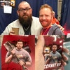Blood and Ice Cream Trilogy (officially licensed prints) - Meeting Nick Frost and presenting him with prints at Nottingham Comic-Con, May 2019