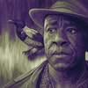Podcasts - Portrait of Lucian Msamati as John Faa (with his accompanying Daemon) from the HBO/BBC adaptation of His Dark Materials.