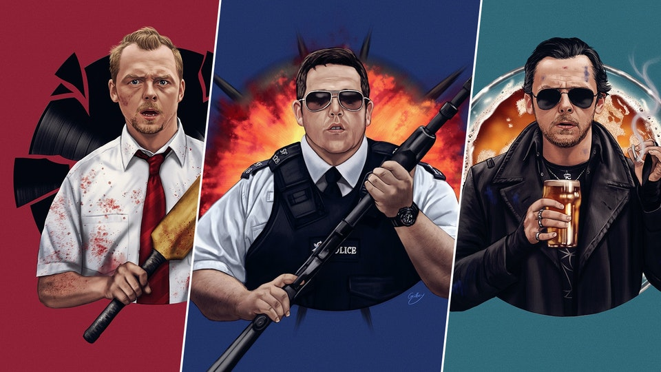 Blood and Ice Cream Trilogy (officially licensed prints)