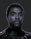 Marvel - Portrait of the late great Chadwick Boseman as The Black Panther.
