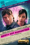 Podcasts - Safety Not Guaranteed – Event poster created for a special screening and 90 Minutes Or Less Film Fest* podcast recording attended by director Colin Trevorrow at the London Podcast Festival 2019.  *90 Minutes Or Less Film Fest logo also designed by Sam.