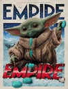 Magazine and Book Covers - Empire Subscriber Cover Featuring Baby Yoda and The Mandalorian, via Central Illustration Agency, Dec 2020. Creative direction by Chris Lupton.