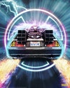 Licensed Posters - Back to the Future Delorean (licensed by Universal Studios and produced in collaboration with Fanattik).