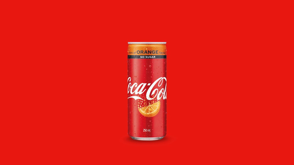 Coke Orange can -