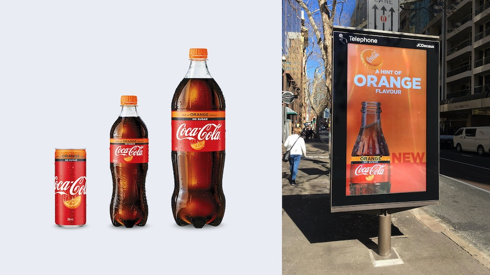 coke-orange-bottles -