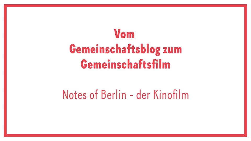 Notes of Berlin / Teaser