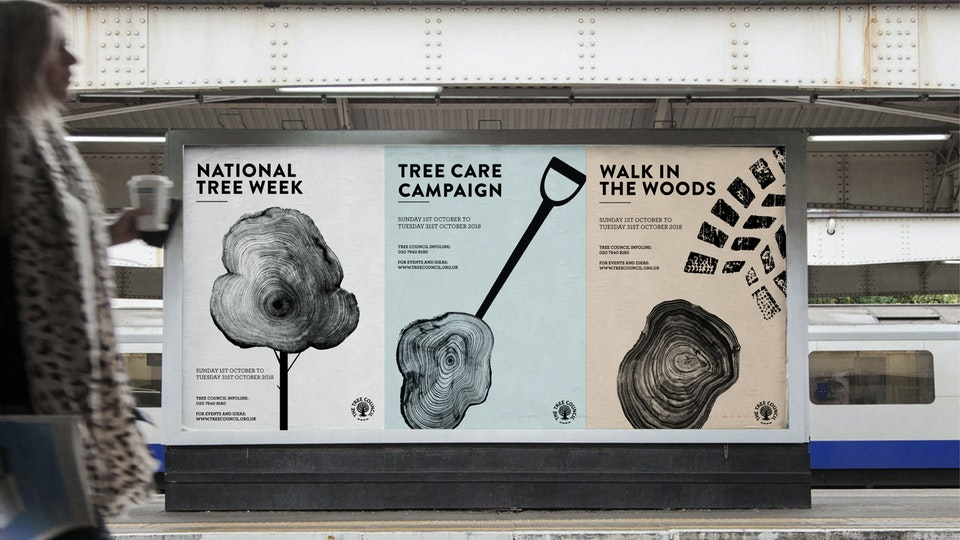 Tree Council, campaign design, illustration & print