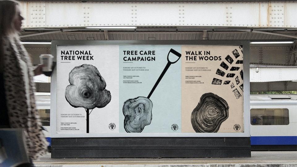 Tree Council, campaign design, illustration & print