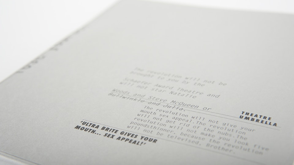 The Revolution will not taste better with coke, artists' book