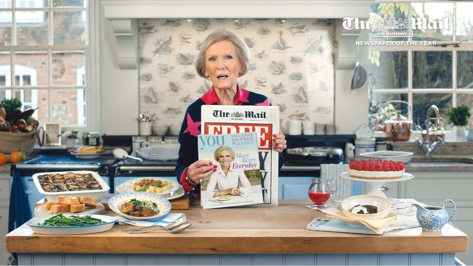 Mary Berry TV commercial ad - TVC for Daily Mail