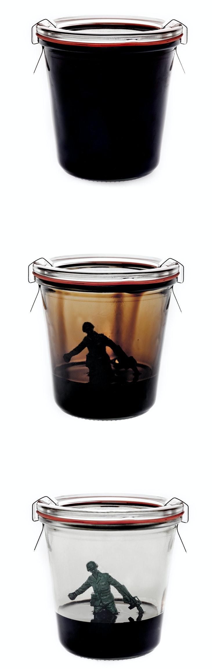Sebastian Wanke, Essenz, Öl, Soldat, Weck, Glas