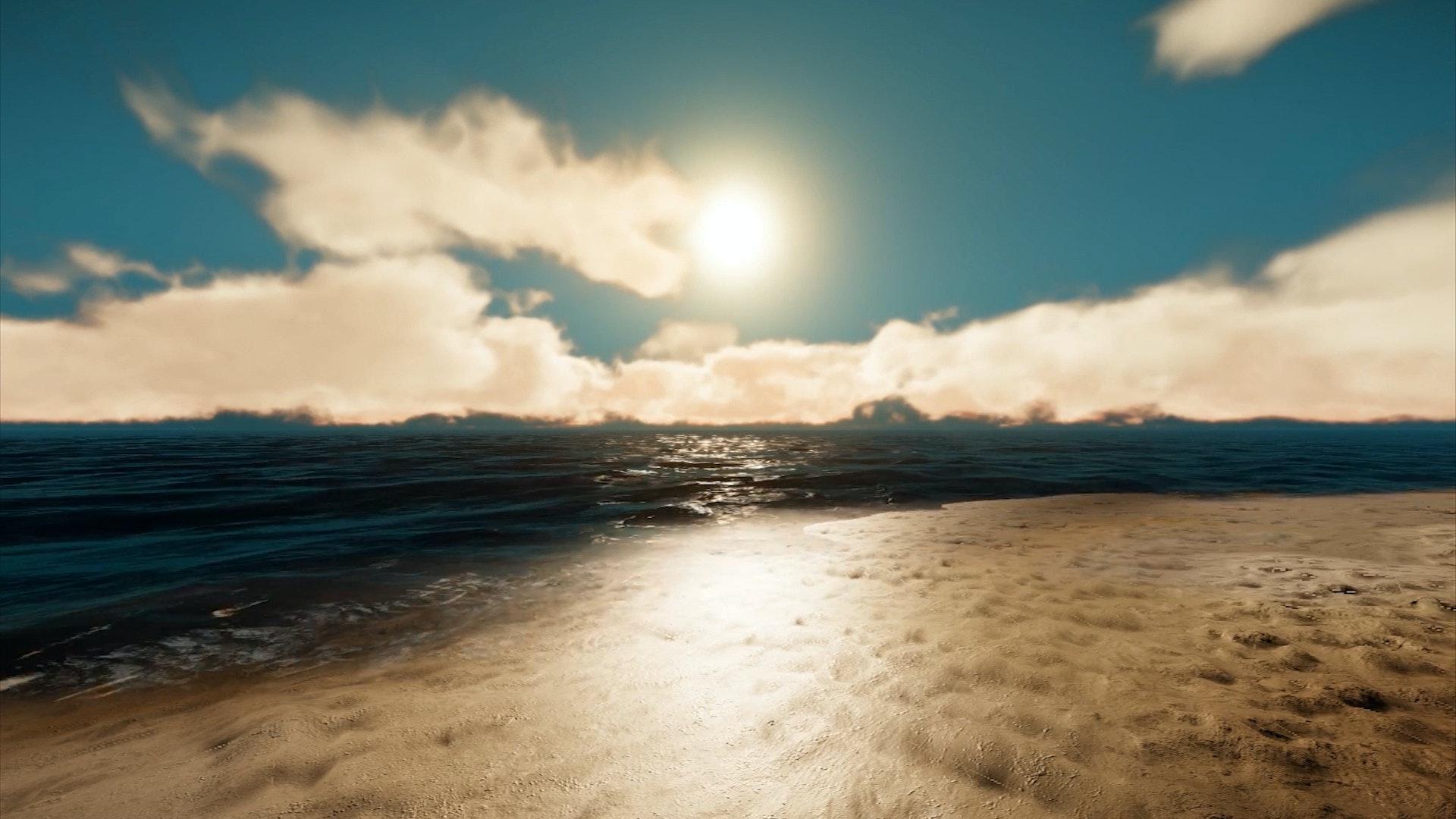 Sebastian Wanke, Sonnenuntergang an der Küste