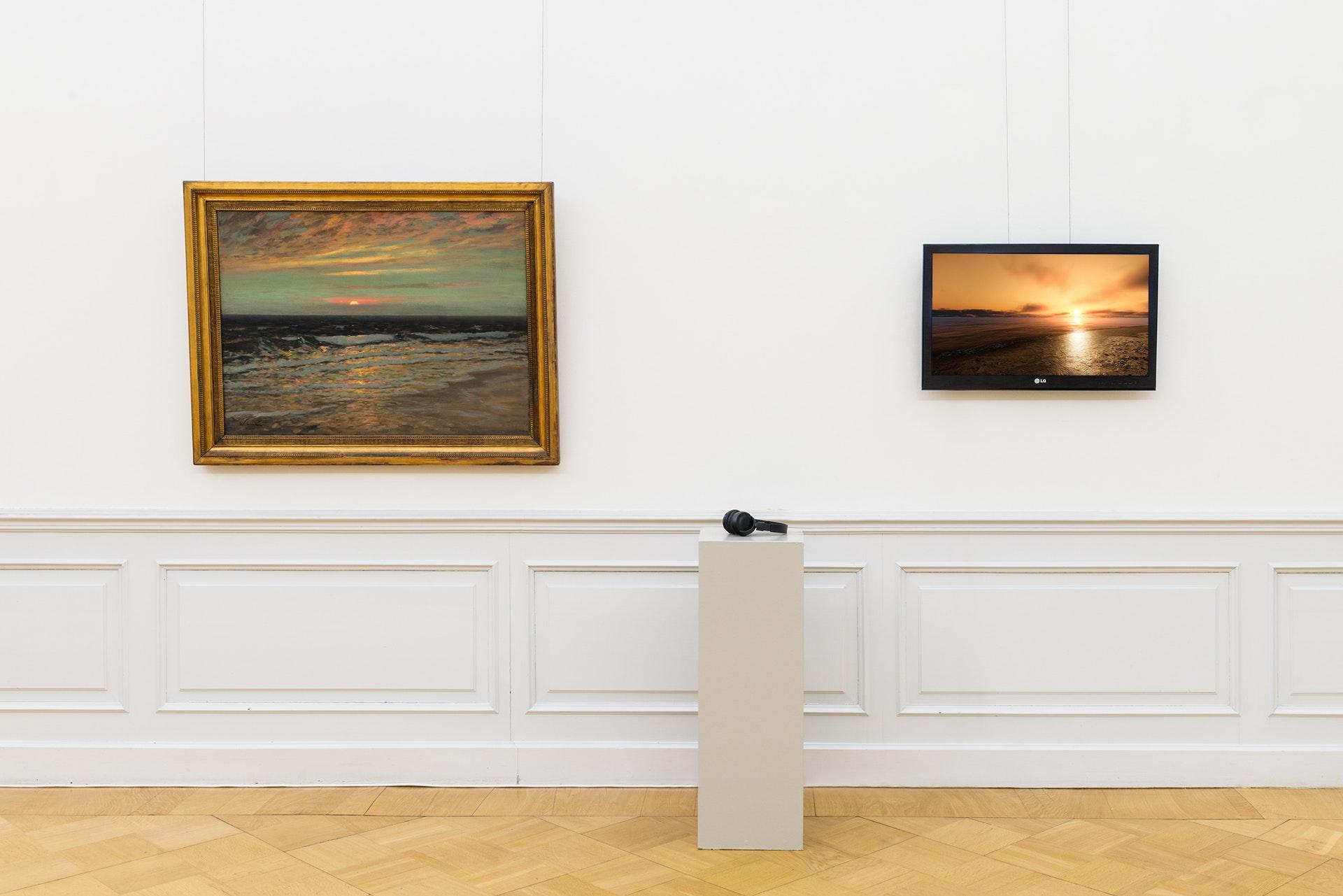 Sebastian Wanke, Sonnenuntergang an der Küste, Lindenau