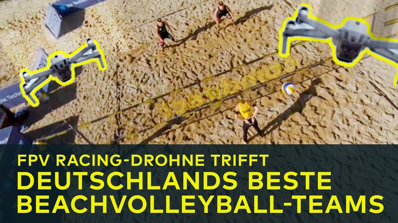 Racing drone meets Beachvolleyball