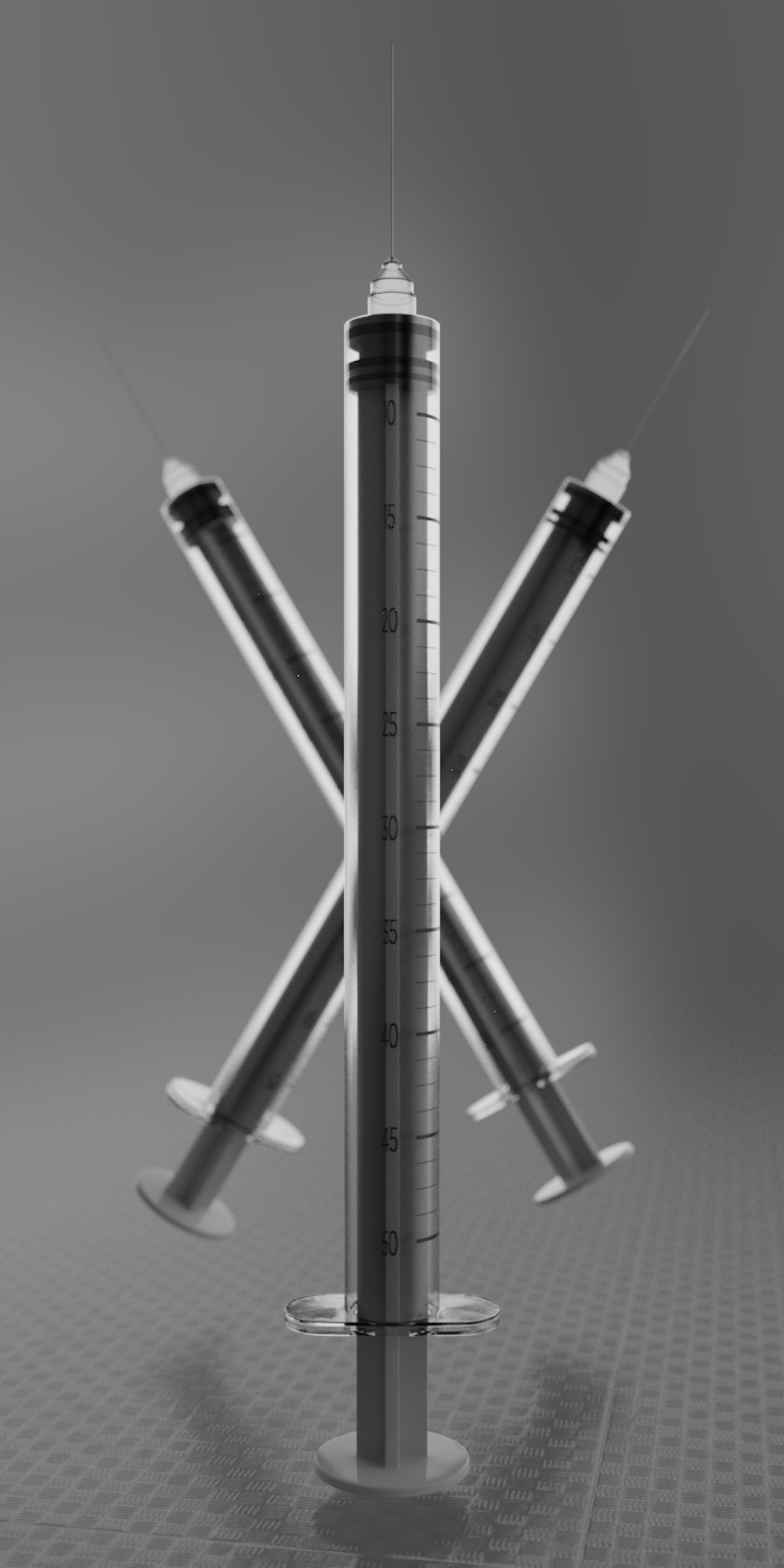 Dailies - Syringe / Plastic PBR Tests for future personal project, Blender