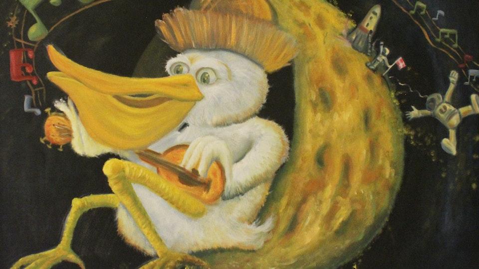 Pelican in the moon - Malerier til børneværelset