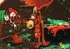 Tweeter & the monkey man - Digital illustration på lærred