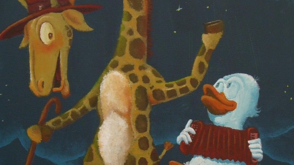 Giraf og and