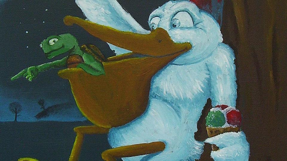 Pelikan og pade