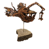 Sculpture in bronze: Deep sea fish